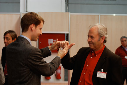 trade show magician entertaining